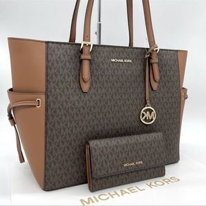 Michael Kors Gilly Large Tote Bag & Trifold Wallet